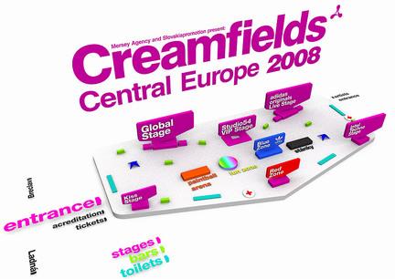 Plán areálu Creamfields Central Europe