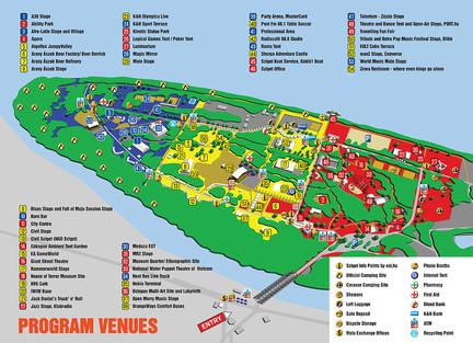 mapa Sziget 2008