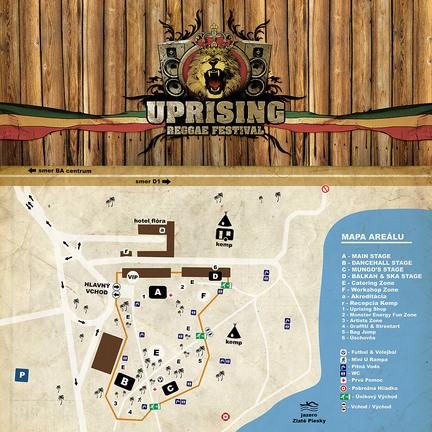 Mapa - Uprising Reggae Festival