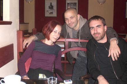 Biba z rádia _FM, Ecson Waldes a Erik z Noisecut v Steam Café