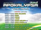 Apokalypsa Jubileum - Timetable alebo kto a kedy zahrá